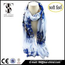 2015 fashionable classic design china print viscose scarf china design shawl