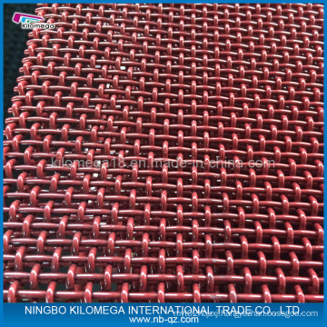 Red Crimped Wire Mesh for Vibrating Mesh with Good Quality
