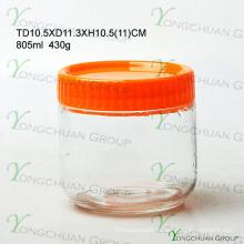 Heiße verkaufenqualitätsfeuchtigkeitsfeste Glasflaschen versiegelte Glasbecher-Imbiss-Milch-Speicher-Krug-Kanister-Satz