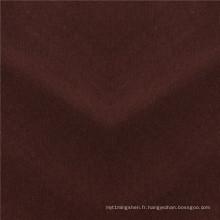 Tissu de couche d'air en molleton de fil teint extensible de polyester