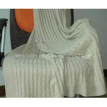 Manta de punto 100% algodón suave