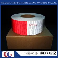 Fita reflexiva de lattice de cristal de PVC vermelha e branca (C3500-B (D))