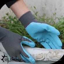 SRSAFETY 13G Вязаный лайнер Латексные женские садовые перчатки