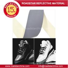 Mittleren Intensität grau reflektierende PVC Leder