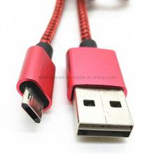 USB reversível um macho para cabo de carga de dados Micro