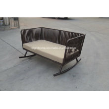 2016 Hotel Comfortable Double Seat Outdoor Rattan Chaise Lounge