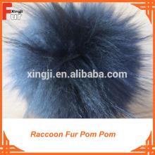 real fur, for beanie hat Fur Pom Poms