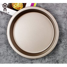 8 Inch Champagne gold Pizza Baking Plate Tools
