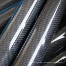 Tube de verre de carbone de prix bas tube de fibre de carbone