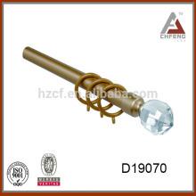 D19070 crystal curtain rod finials,decoration glass ball for curtain rod finial,curtain rod