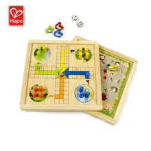 High Quality Hape Educational Toys Wooden Board Game,Ludo Board Game For Kids