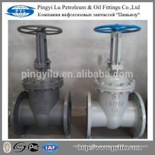 GOST aço carbono flange final água óleo gás tubo manual PN16 DN250 válvula de portão