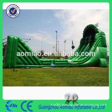 Tamanho inflável do slide 20 * 6 * 8m 0.55mmPVC inflável zip linha ropeway para venda