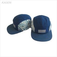 Gorra de 5 paneles hecha a medida / sombrero de campista de 5 paneles / Logotipo personalizado 5 sombrero de panel