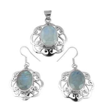Shankar Silvex 925 conjunto de joyas de plata esterlina