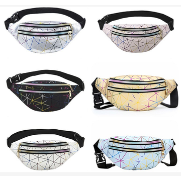 Mens Womens Fashion PU Waist Bag Chest Bag