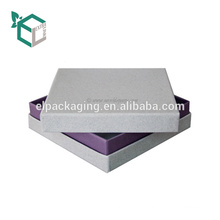 White Cardboard Cosmetic Packaging Rigid Texture Luxury Box