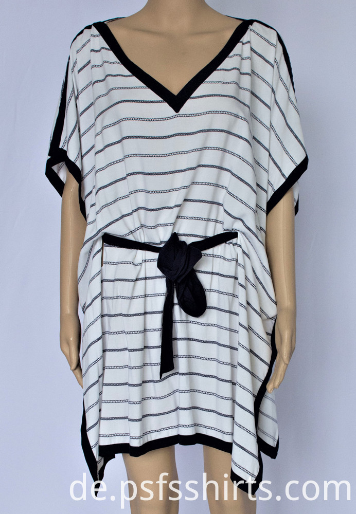 Women Striped Belted Dress