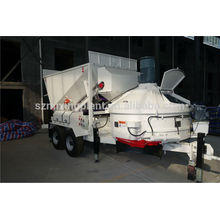 Export to Russia portable Mini Mobile Concrete Mixing Plant