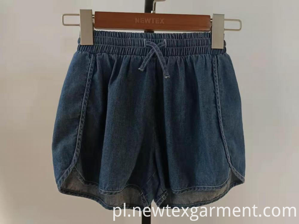 blue denim girls shorts