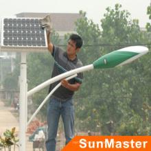 Lámpara de luces de calle solar durable ahorro de energía 30W IP66 LED