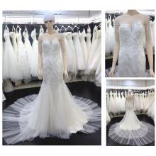 Real See Through Corset Floor Length Custom Made Formal Bridal Gowns Design Robe De Mariee Mermaid Wedding Dresses 16660-1