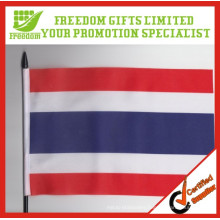 2014 High Quality Waving Polyster Promotional Hand Flag