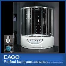 Salle de douche à vapeur EAGO avec baignoire de massage DA333F8