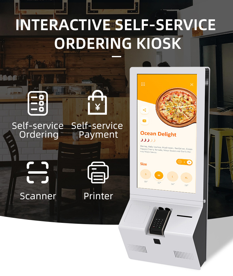 32 inch digital signage multimedia touch screen Kiosk payment self-ordering kiosk