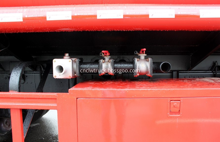 water tank truck water pump