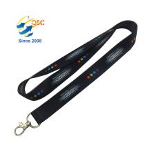 Quick Release Phone And Badge Holder Satin Ribbon Decoration Heat Transfer Lanyard