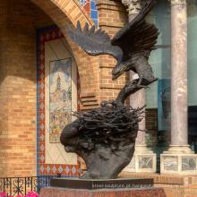 Escultura de águia de metal de alta qualidade