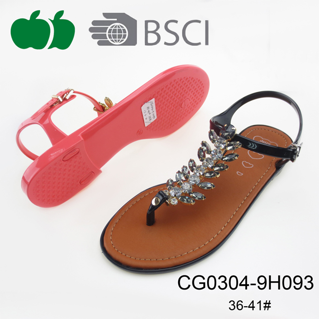 Cheap Price Fashion Fancy Sexy Lady Pvc Sandals