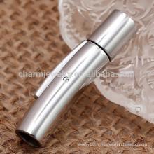 BXG003 Shiny 2/3/4/5/6/7 / 8mm 316l Acier inoxydable Snap / bayonet Broche à bijoux pour cordon en cuir Bijoux DIY Résultats