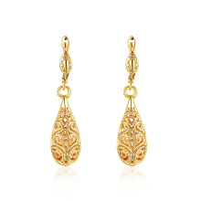 18k Gold Plated Water Shape Earrings Fashion Gold Color Women Jewelry