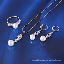 Xuping mais recente conjunto de jóias de pérola (61049)