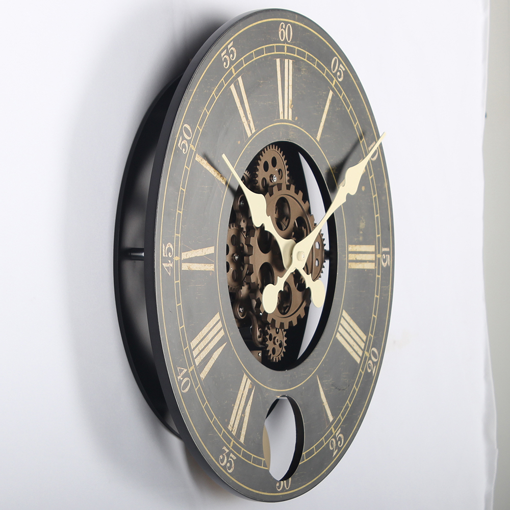 Gears in Motion Wall Clock