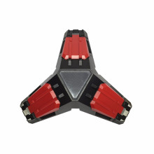 Triângulo de ferro LED Triplo 3 portas USB Estação de doca Gamepads Suporte de carregamento para controladores XBOX ONE