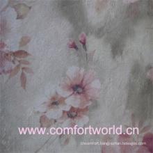 100% Nylon Printed Flocking Fabric With T/C Backing