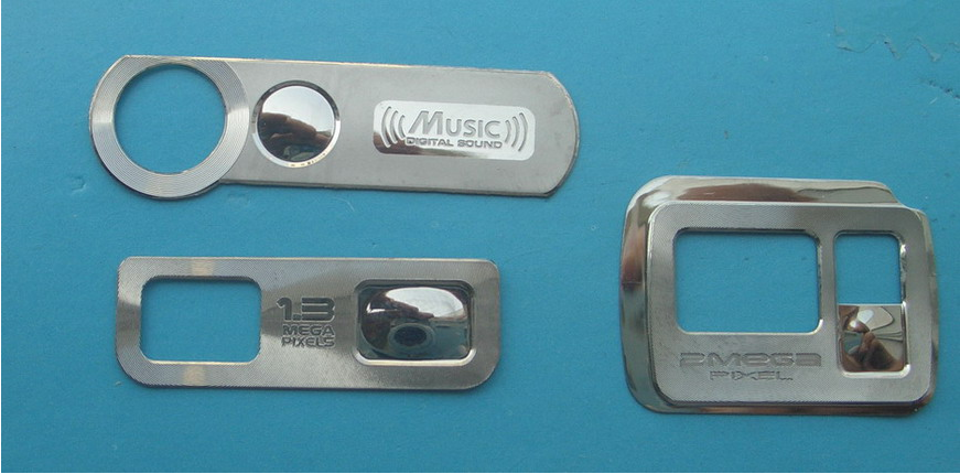 Metal Decorative Pieces of Label