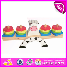 2014 New Wooden Kids Balance Toy, Popular Cheap Children Wooden Balance Toy, Hot Sale Interesting Wooden Baby Balance Toy W11f025
