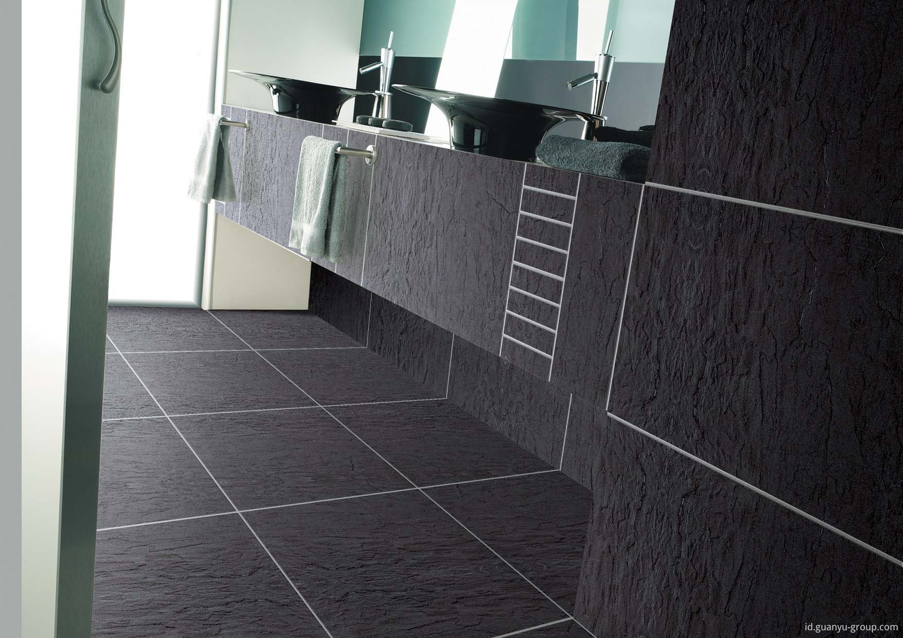 Black Non-Slip Glazed Surface Porcelain Tile