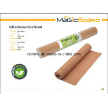 Self-Adhesive Cork Board for Shool and Office Supply