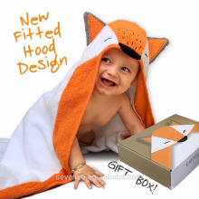 2017 new design 100% organic bamboo 500gsm high quantity Baby Hooded Towel for Girls & Boys - Antibacterial & Hypoallergenic