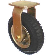 Roulette pneumatique fixe (noir)