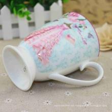Taza del té de la garantía de la calidad del proveedor de China con la cuchara de cerámica