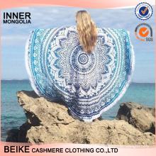 Nouveauté vente super qualité écharpe de plage avec fleur à la main