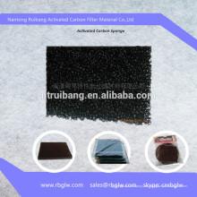 Espuma de esponja para filtro de carbono con tejido de carbono