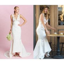 High Quality Satin Mermaid Wedding Dress