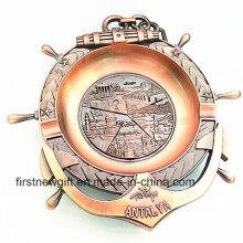 Antalya Souvenir Gifts Custom 3D 3D Engrave Logo Cendrier en métal (B5006)